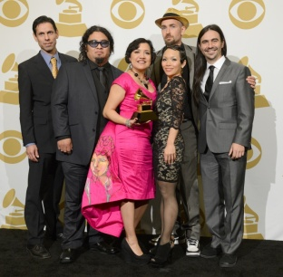 Quetzal with their Grammy Award